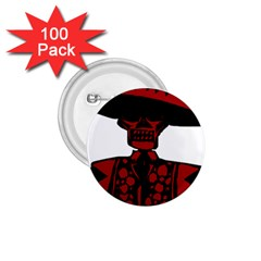 Day Of The Dead 1.75  Button (100 pack)