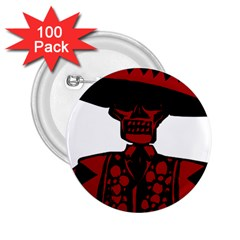 Day Of The Dead 2.25  Button (100 pack)