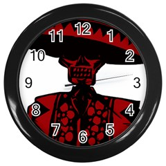 Day Of The Dead Wall Clock (Black)