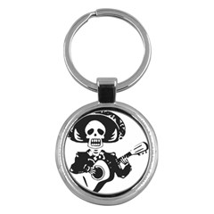 Day Of The Dead Key Chain (Round)