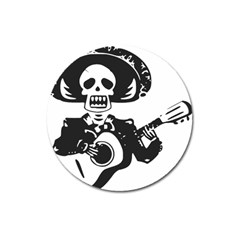 Day Of The Dead Magnet 3  (Round)