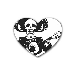 Day Of The Dead Drink Coasters (Heart)