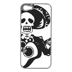 Day Of The Dead Apple iPhone 5 Case (Silver)