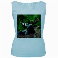 Majestic Moose Women s Tank Top (Baby Blue)