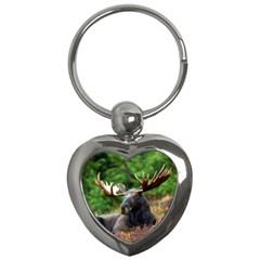 Majestic Moose Key Chain (heart)