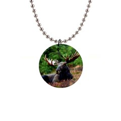 Majestic Moose Button Necklace