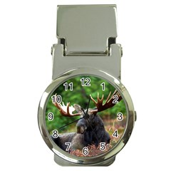Majestic Moose Money Clip With Watch