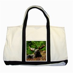 Majestic Moose Two Toned Tote Bag