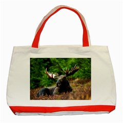 Majestic Moose Classic Tote Bag (Red)