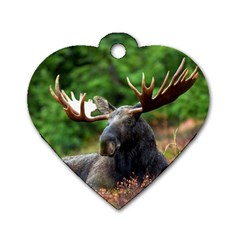 Majestic Moose Dog Tag Heart (one Sided)