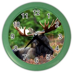 Majestic Moose Wall Clock (color)