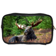 Majestic Moose Travel Toiletry Bag (two Sides)
