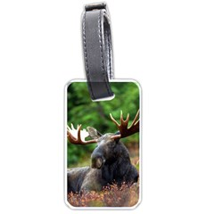 Majestic Moose Luggage Tag (One Side)