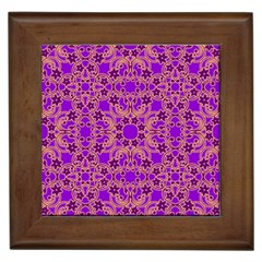 Purple Moroccan Pattern Framed Ceramic Tile