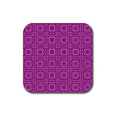 Purple Moroccan Pattern Drink Coaster (Square)