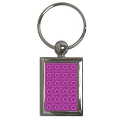 Purple Moroccan Pattern Key Chain (rectangle)