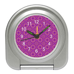 Purple Moroccan Pattern Desk Alarm Clock