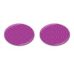 Purple Moroccan Pattern Cufflinks (Oval)
