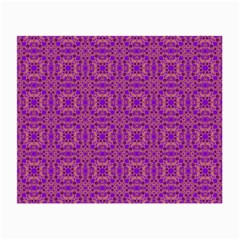Purple Moroccan Pattern Glasses Cloth (Small, Two Sided)