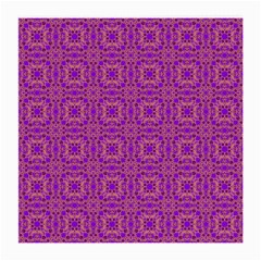 Purple Moroccan Pattern Glasses Cloth (medium, Two Sided)