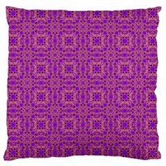 Purple Moroccan Pattern Large Cushion Case (Two Sided)