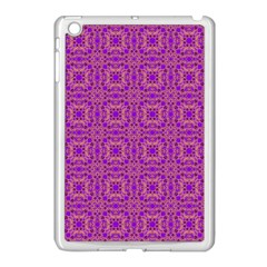 Purple Moroccan Pattern Apple Ipad Mini Case (white)