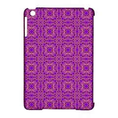 Purple Moroccan Pattern Apple iPad Mini Hardshell Case (Compatible with Smart Cover)
