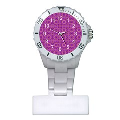 Purple Moroccan Pattern Nurses Watch