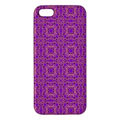 Purple Moroccan Pattern Iphone 5s Premium Hardshell Case