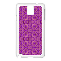 Purple Moroccan Pattern Samsung Galaxy Note 3 N9005 Case (White)