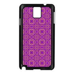 Purple Moroccan Pattern Samsung Galaxy Note 3 N9005 Case (black)