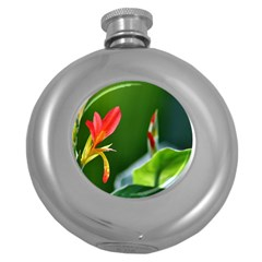 Lily 1 Hip Flask (round)
