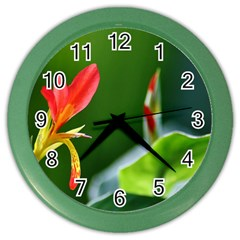 Lily 1 Wall Clock (Color)