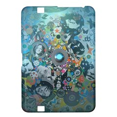 Led Zeppelin Iii Digital Art Kindle Fire Hd 8 9  Hardshell Case