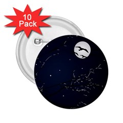 Night Birds And Full Moon 2 25  Button (10 Pack)
