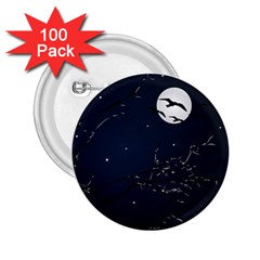 Night Birds and Full Moon 2.25  Button (100 pack)