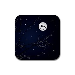 Night Birds and Full Moon Drink Coaster (Square)