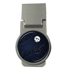 Night Birds and Full Moon Money Clip (Round)