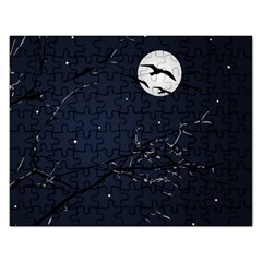 Night Birds And Full Moon Jigsaw Puzzle (rectangle)