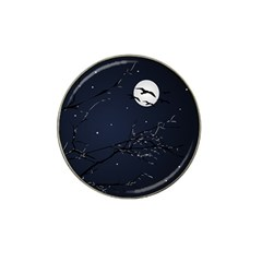 Night Birds and Full Moon Golf Ball Marker 10 Pack (for Hat Clip)