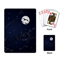 Night Birds and Full Moon Playing Cards Single Design