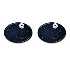 Night Birds and Full Moon Cufflinks (Oval)