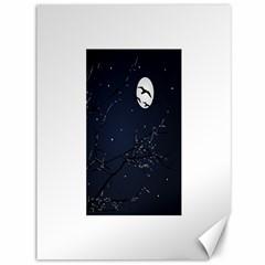 Night Birds And Full Moon Canvas 36  X 48  (unframed)
