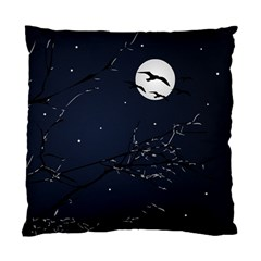 Night Birds and Full Moon Cushion Case (Two Sided)