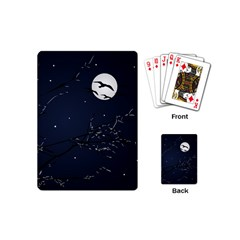 Night Birds And Full Moon Playing Cards (mini)
