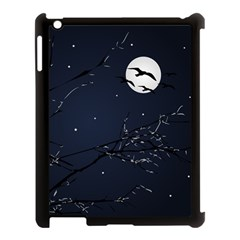 Night Birds And Full Moon Apple Ipad 3/4 Case (black)