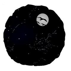 Night Birds And Full Moon 18  Premium Round Cushion