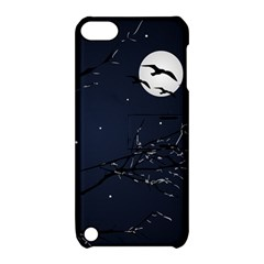Night Birds And Full Moon Apple Ipod Touch 5 Hardshell Case With Stand