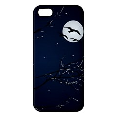 Night Birds And Full Moon Apple Iphone 5 Premium Hardshell Case