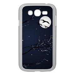 Night Birds and Full Moon Samsung Galaxy Grand DUOS I9082 Case (White)